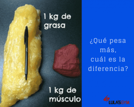 Masa grasa vs Masa muscular