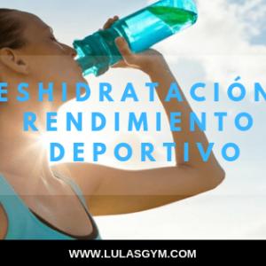 agua deshidratacion en el rendimiento deportivo